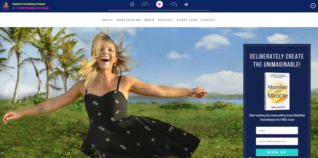 Lana Shlafer Website
